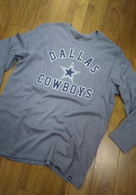 Dallas Cowboys 47 Varsity Arch T Shirt - Grey