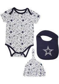Dallas Cowboys Baby Navy Blue Randy One Piece with Bib