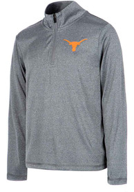 Texas Longhorns Youth Joel Grey Quarter Zip Shirt