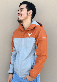 Texas Longhorns Columbia Glennaker Storm Light Weight Jacket - Grey