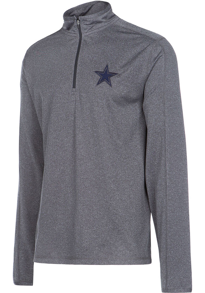 Dallas Cowboys Grey Bretton 1/4 Zip Pullover
