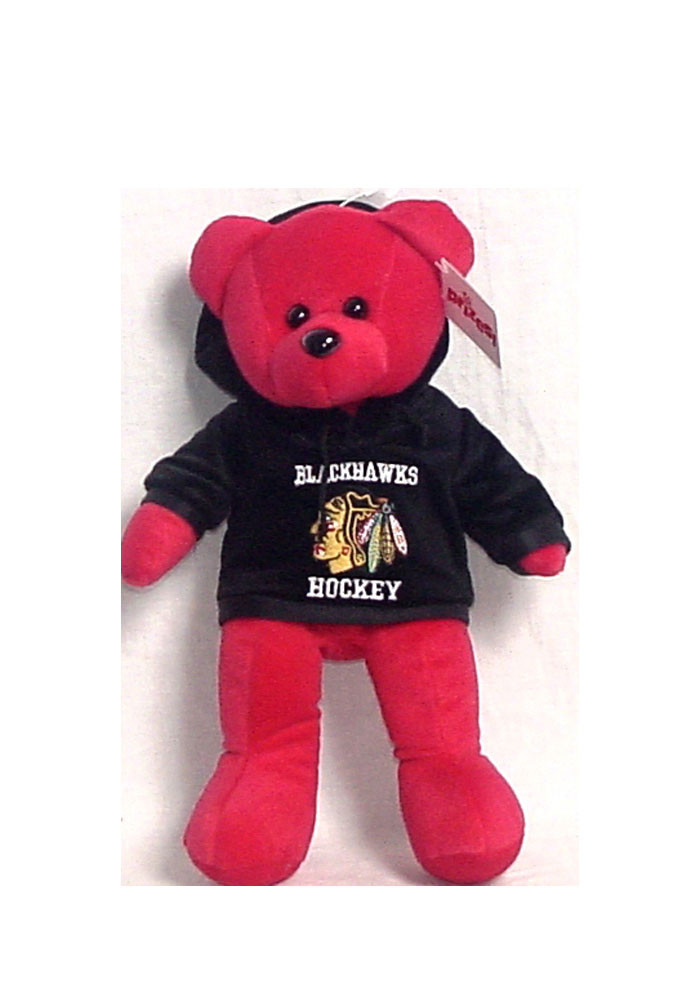 Chicago Blackhawks 14 Inch Team Color Hoodie Plush - Image 1