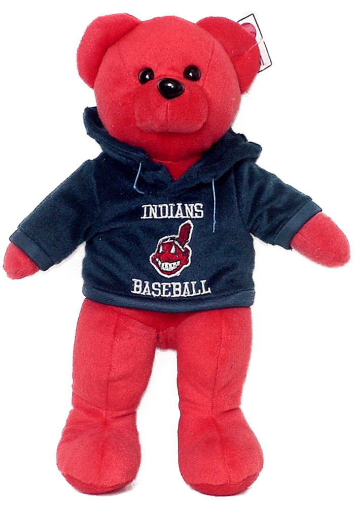 Cleveland Indians 14 Inch Team Color Hoodie Plush - Image 1