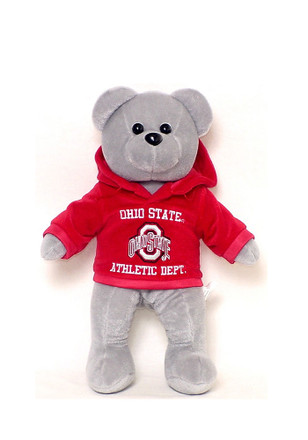 Ohio State Buckeyes 14 Inch Team Color Hoodie Plush