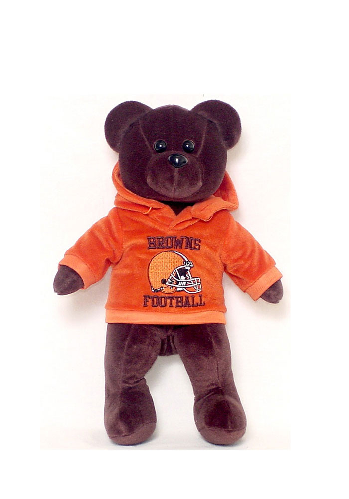 Cleveland Browns 14 Inch Team Color Hoodie Plush - Image 1