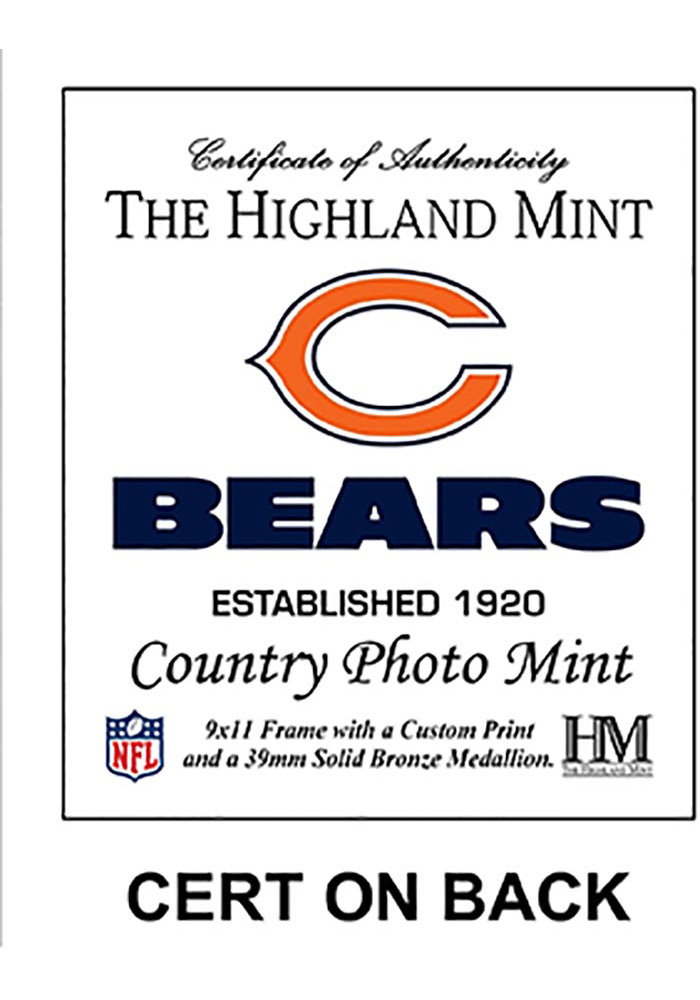 Chicago Bears Country Bronze Coin 9x11 Picture Frame - Image 2
