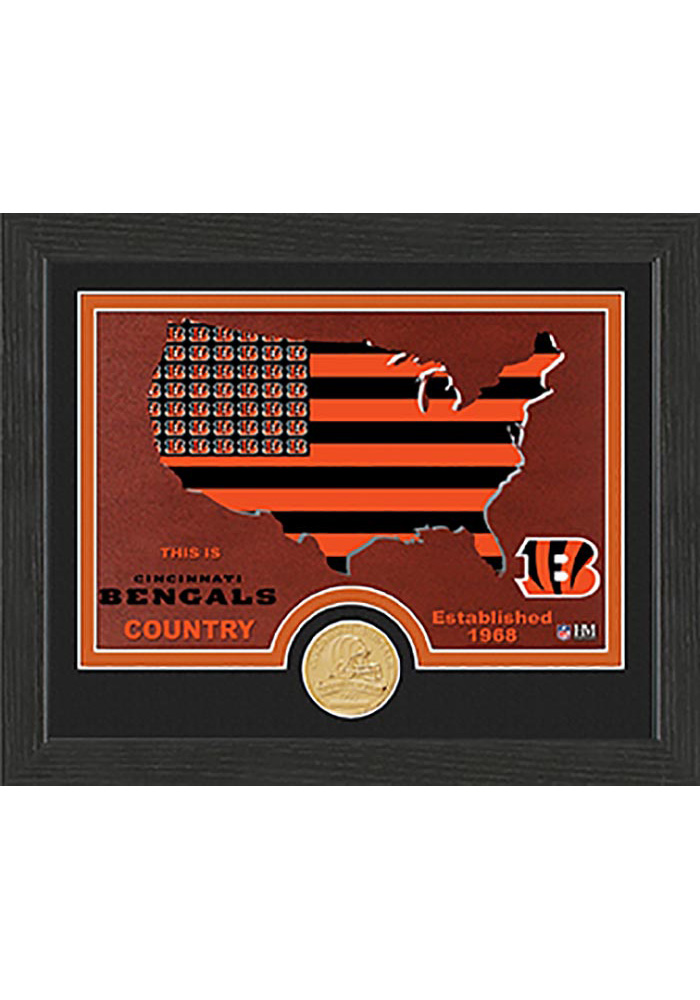 Cincinnati Bengals Country Bronze Coin 9x11 Picture Frame - Image 1
