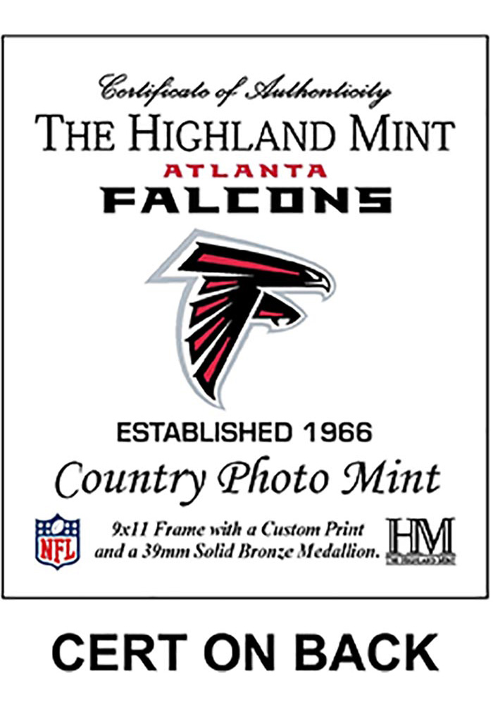 Atlanta Falcons Country Bronze Coin 9x11 Picture Frame - Image 2