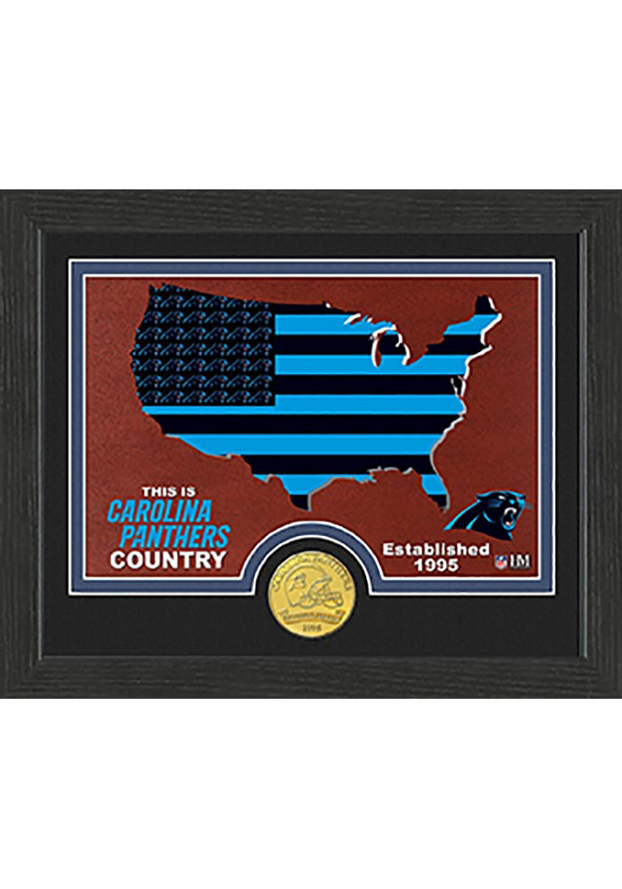 Carolina Panthers Country Bronze Coin 9x11 Picture Frame - Image 1