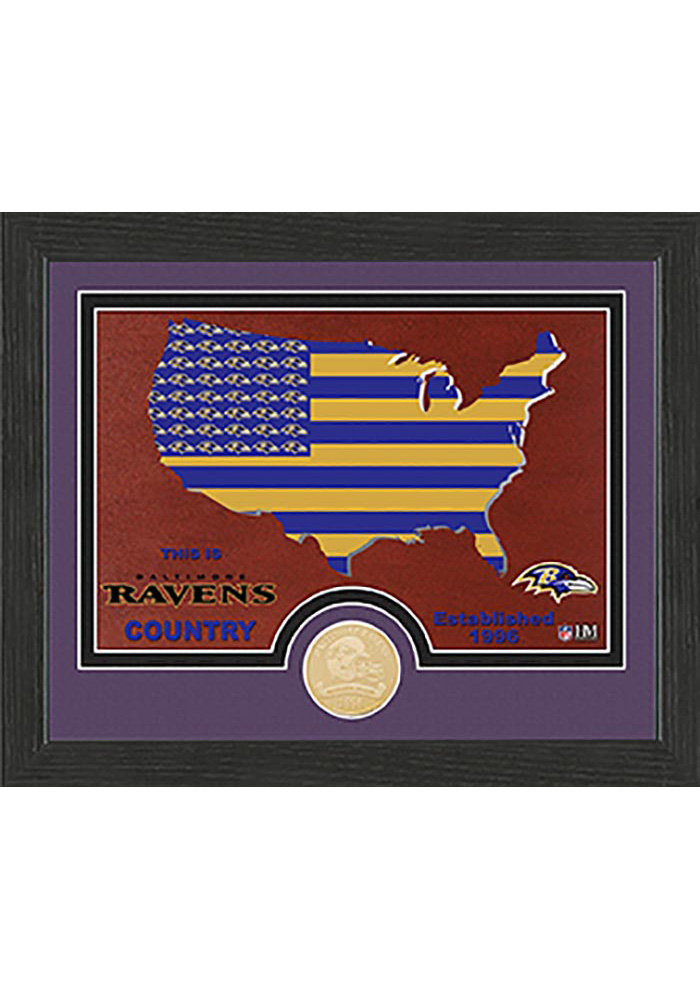 Baltimore Ravens Country Bronze Coin 9x11 Picture Frame - Image 1