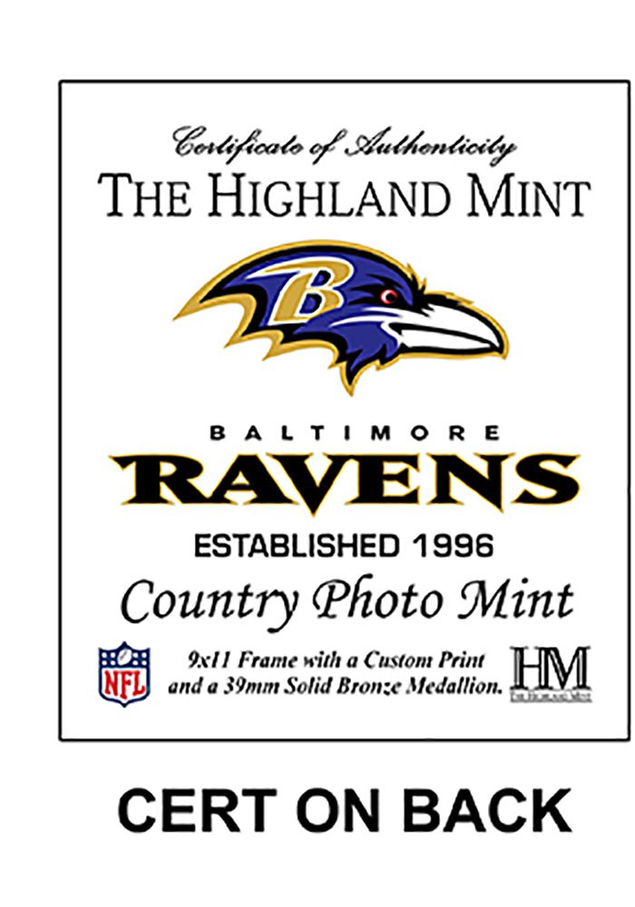 Baltimore Ravens Country Bronze Coin 9x11 Picture Frame - Image 2
