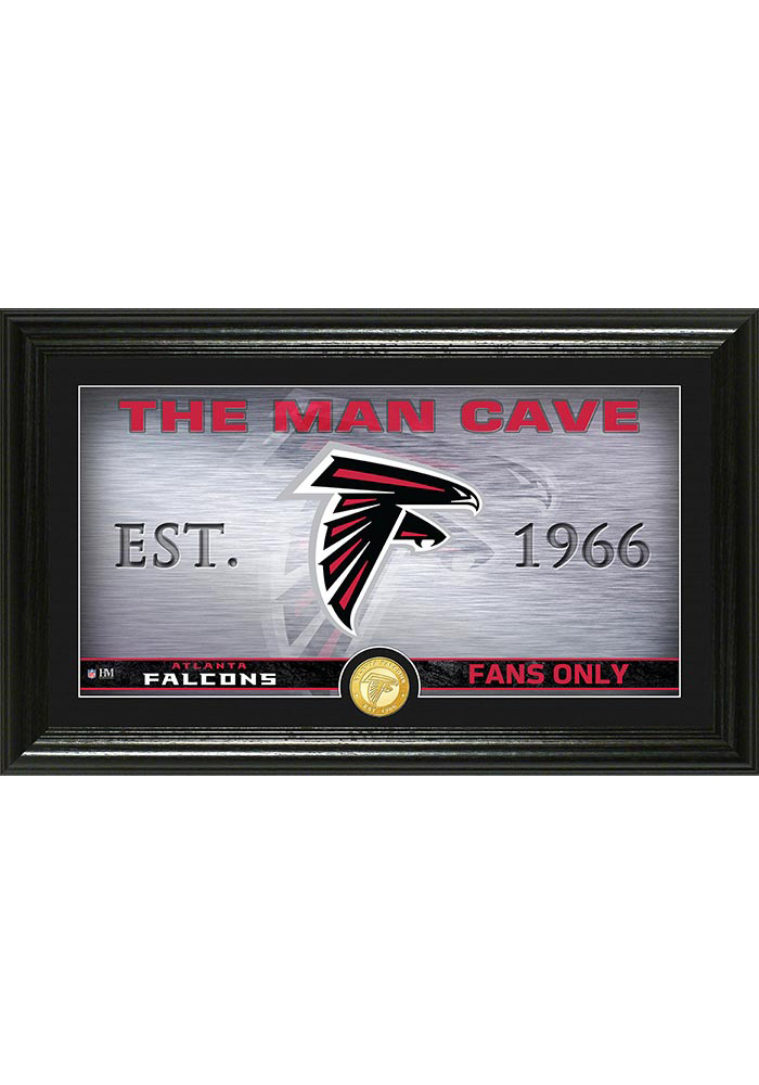 Atlanta Falcons Man Cave Bronze Coin 12x20 Picture Frame - Image 1