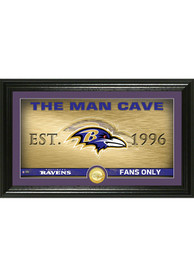 Baltimore Ravens Man Cave Bronze Coin 12x20 Picture Frame