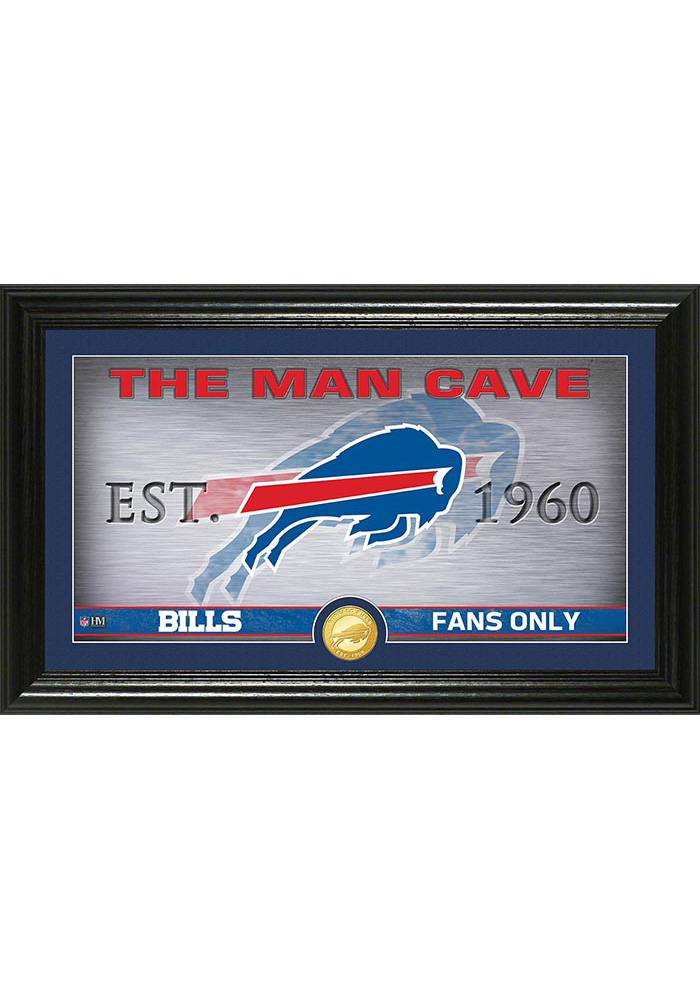 Buffalo Bills Man Cave Bronze Coin 12x20 Picture Frame - Image 1