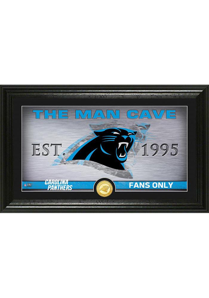 Carolina Panthers Man Cave Bronze Coin 12x20 Picture Frame - Image 1