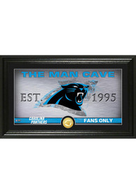 Carolina Panthers Man Cave Bronze Coin 12x20 Picture Frame