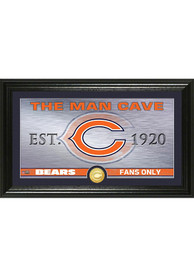 Chicago Bears Man Cave Bronze Coin 12x20 Picture Frame