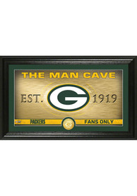 Green Bay Packers Man Cave Bronze Coin 12x20 Picture Frame
