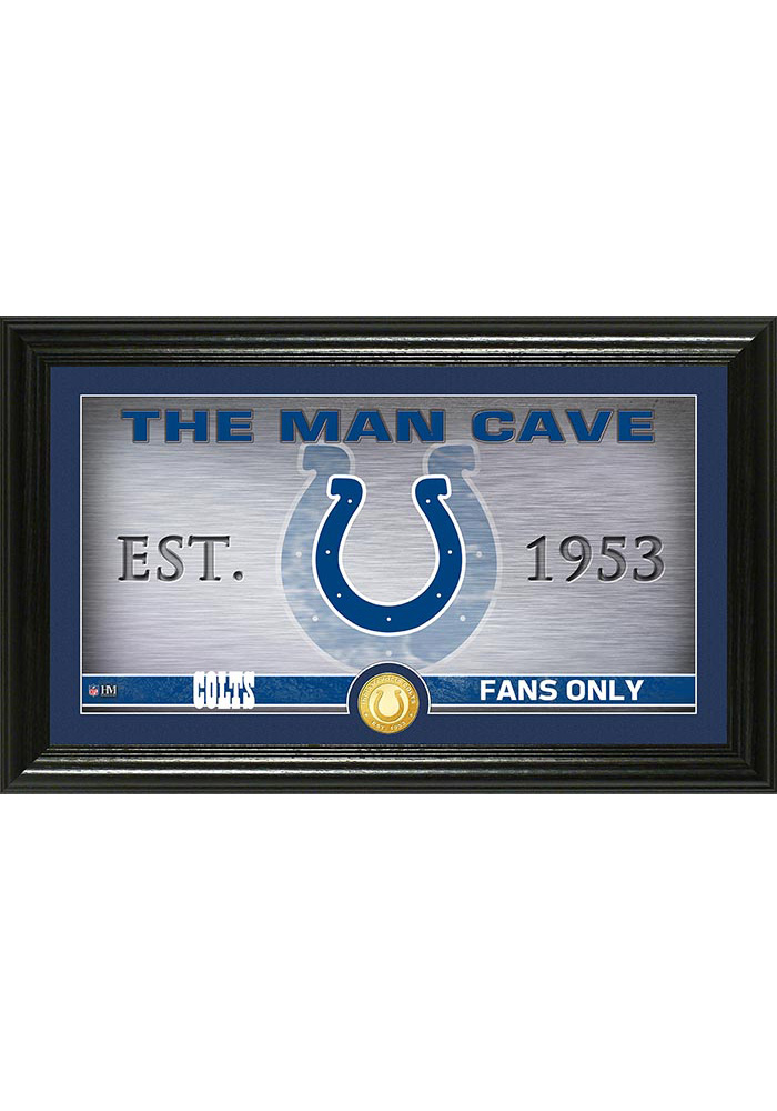Indianapolis Colts Man Cave Bronze Coin 12x20 Picture Frame 4440122