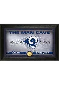 Los Angeles Rams Man Cave Bronze Coin 12x20 Picture Frame