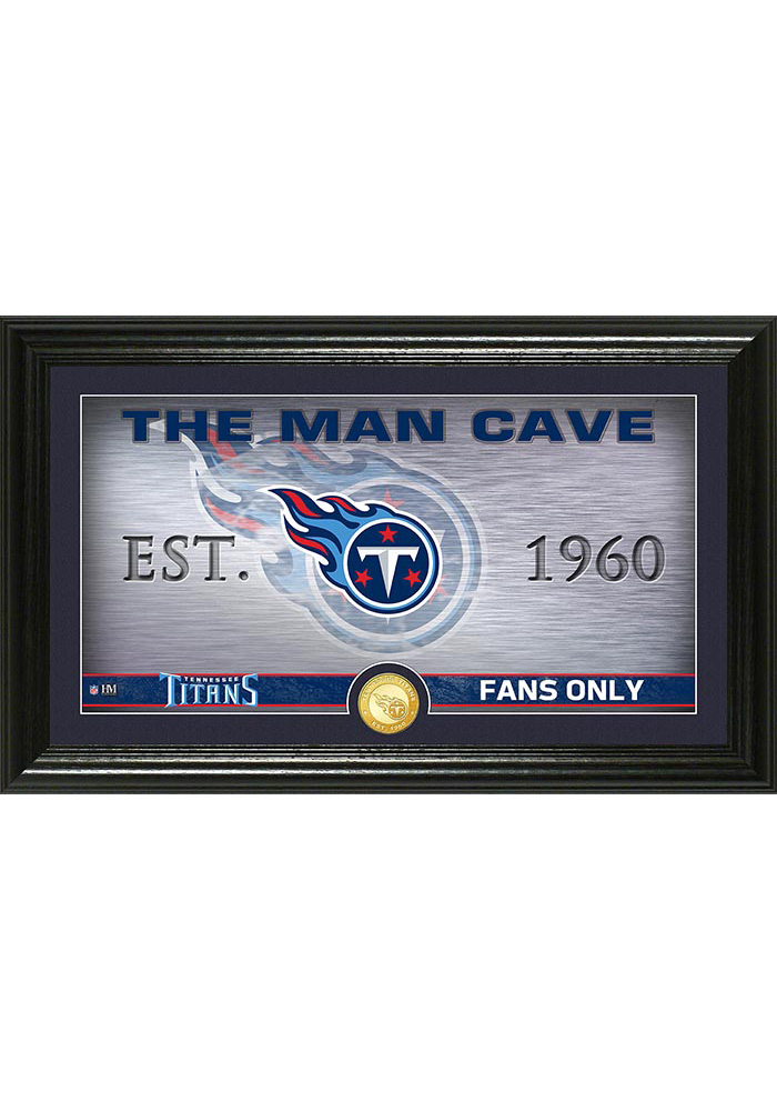 Tennessee Titans Man Cave Bronze Coin 12x20 Picture Frame - Image 1