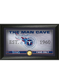 Tennessee Titans Man Cave Bronze Coin 12x20 Picture Frame