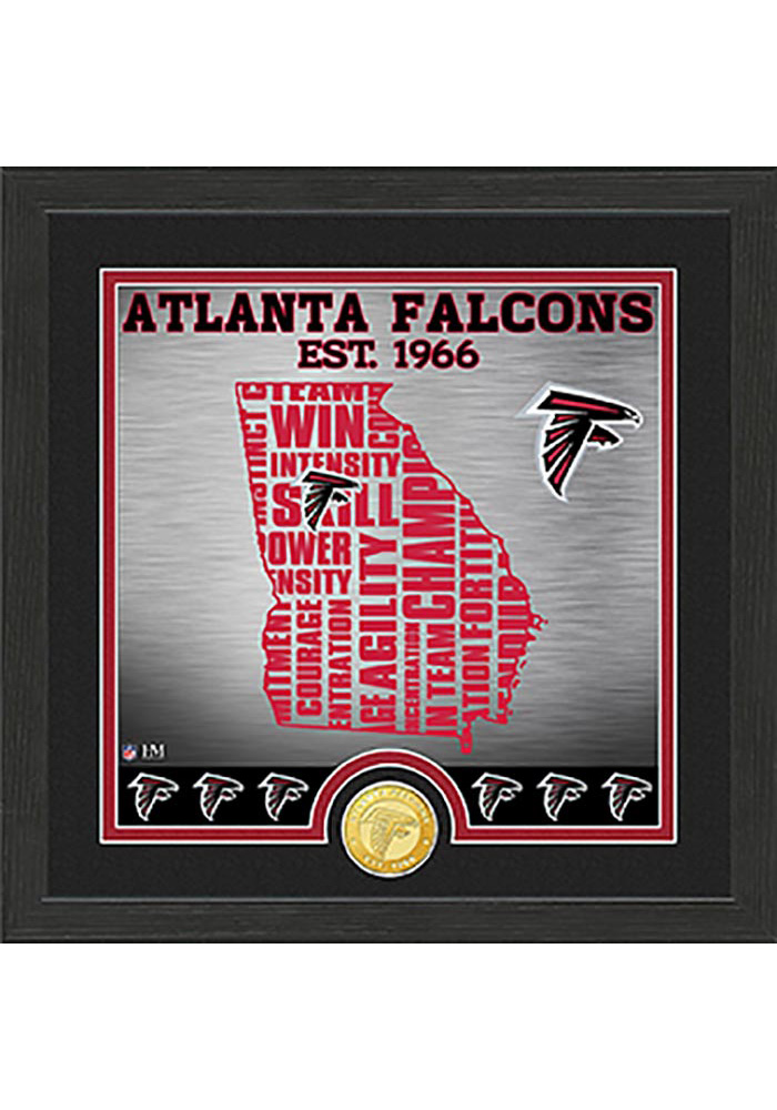 Atlanta Falcons State Bronze Coin 13x13 Picture Frame - Image 1