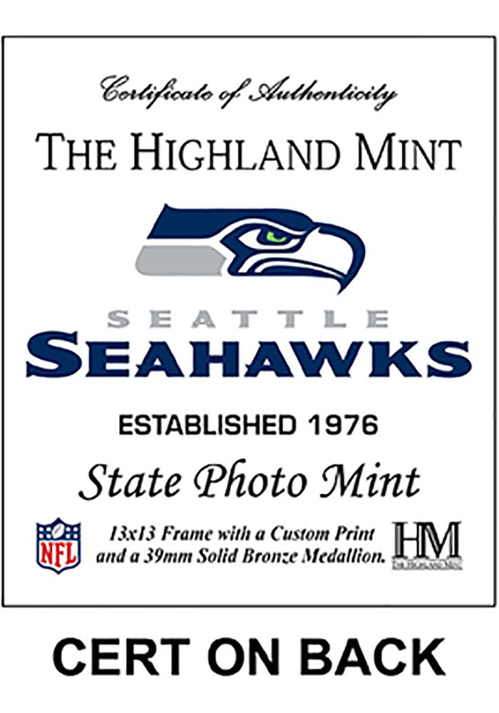 Seattle Seahawks State Bronze Coin 13x13 Picture Frame - Image 2