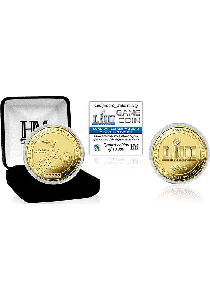New England Patriots Super Bowl LIII Gold Flip Collectible Coin - Image 1
