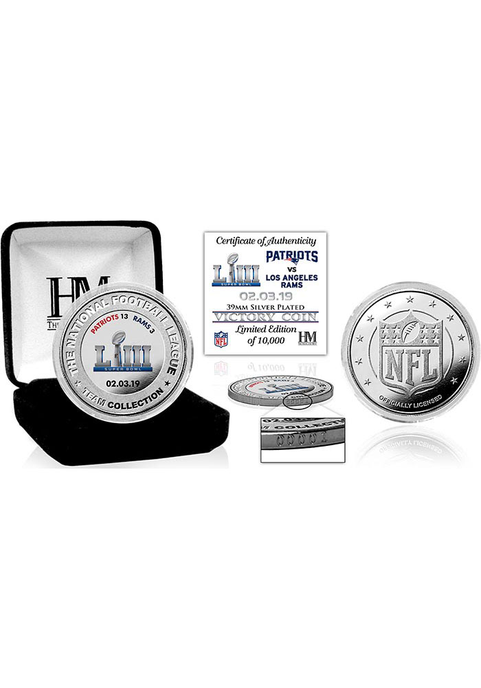New England Patriots Super Bowl LIII Victory Silver Collectible Coin - Image 1