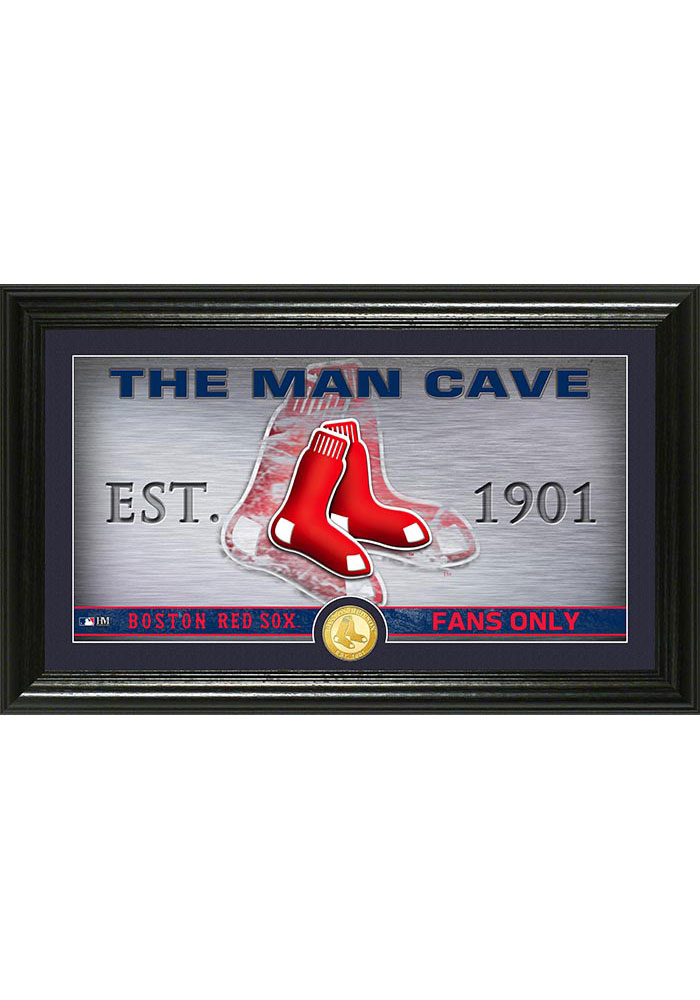 Boston Red Sox 12x20 Man Cave Plaque - Image 1