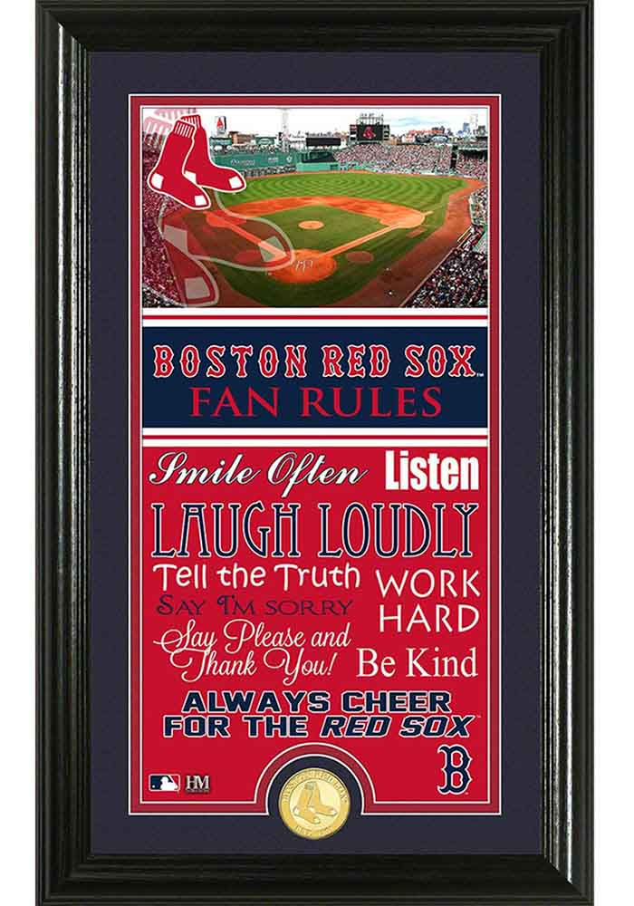 Boston Red Sox 12x20 Fan Rules Plaque - Image 1