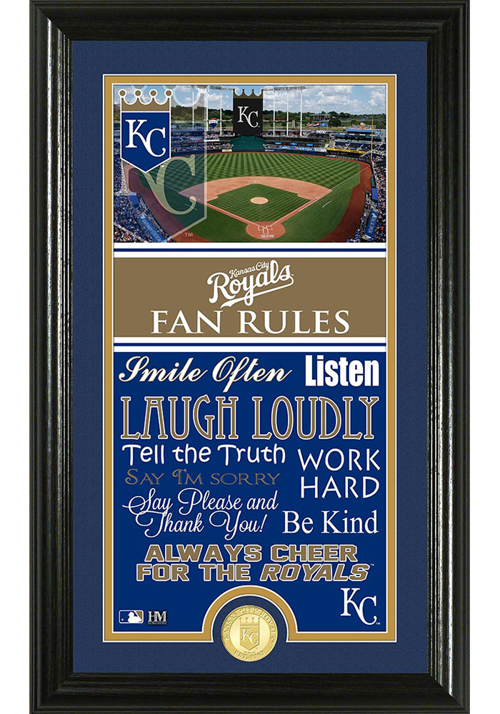 Kansas City Royals 12x20 Fan Rules Plaque - Image 1