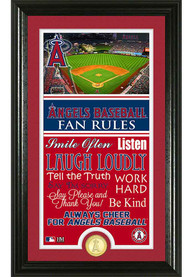 Los Angeles Angels 12x20 Fan Rules Plaque