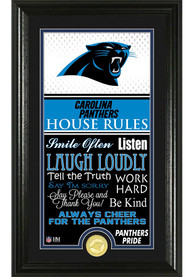 Carolina Panthers 12x20 House Rules Plaque