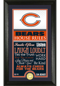 Chicago Bears 12x20 House Rules Plaque