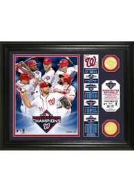 Washington Nationals 2019 World Series Champions Bronze Coin Plaque