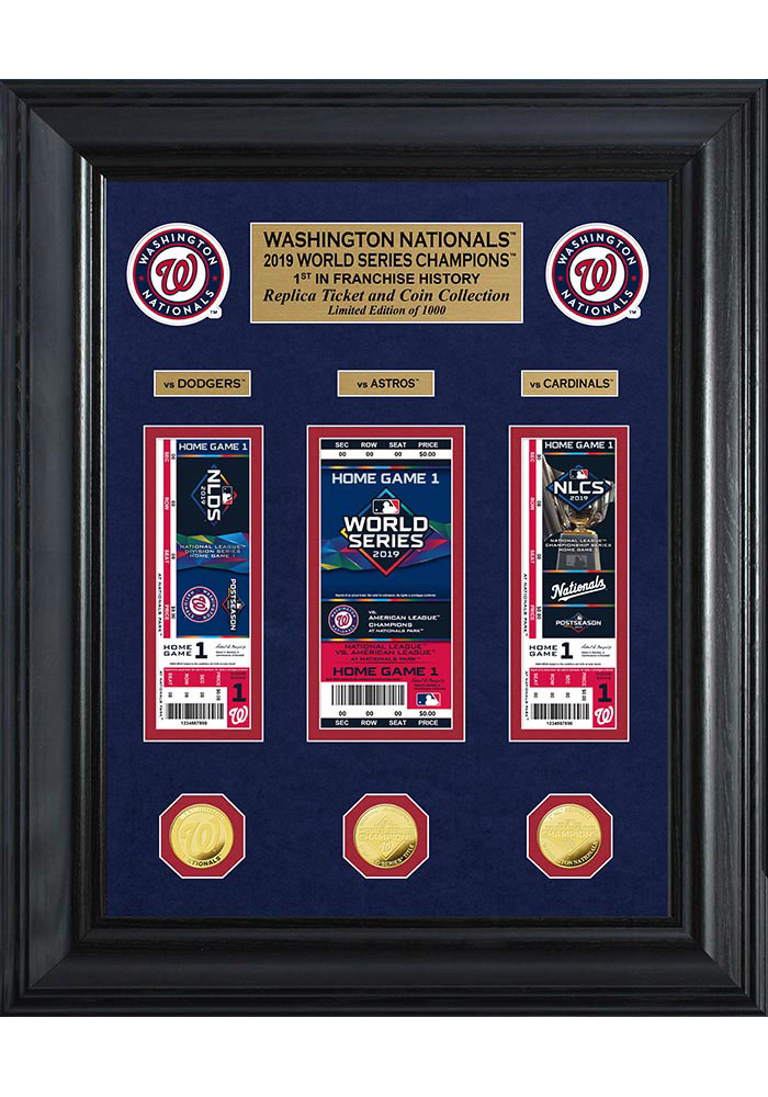 Washington Nationals 2019 World Series Champions Deluxe Gold Plaque - Image 1