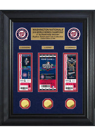 Washington Nationals 2019 World Series Champions Deluxe Gold Plaque