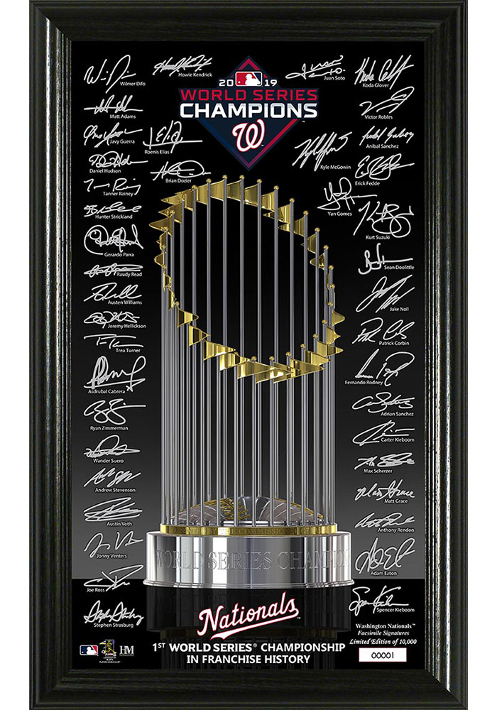 Washington Nationals 2019 World Series Champions Signature Trophy Picture Frame - Image 1