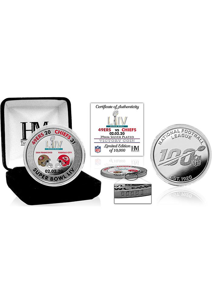 Kansas City Chiefs Super Bowl LIV Champions Silver Collectible Coin - Image 1