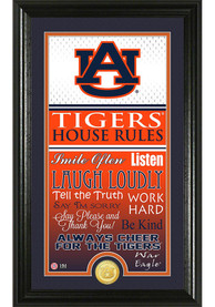 Auburn Tigers 12x20 House Rules Plaque