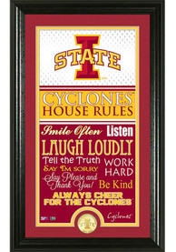 Iowa State Cyclones 12x20 House Rules Plaque