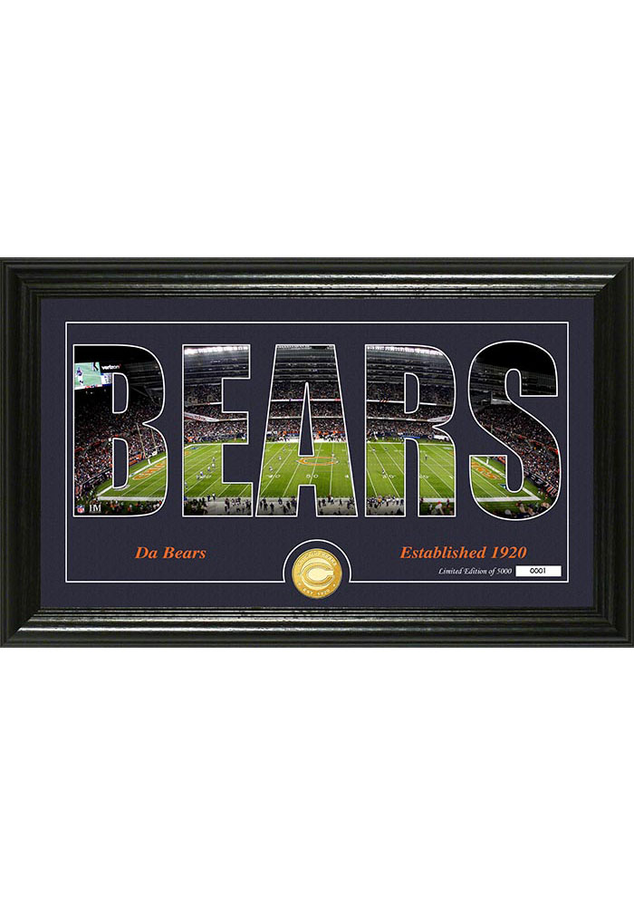 Chicago Bears 12x20 Silhouette Plaque - Image 1