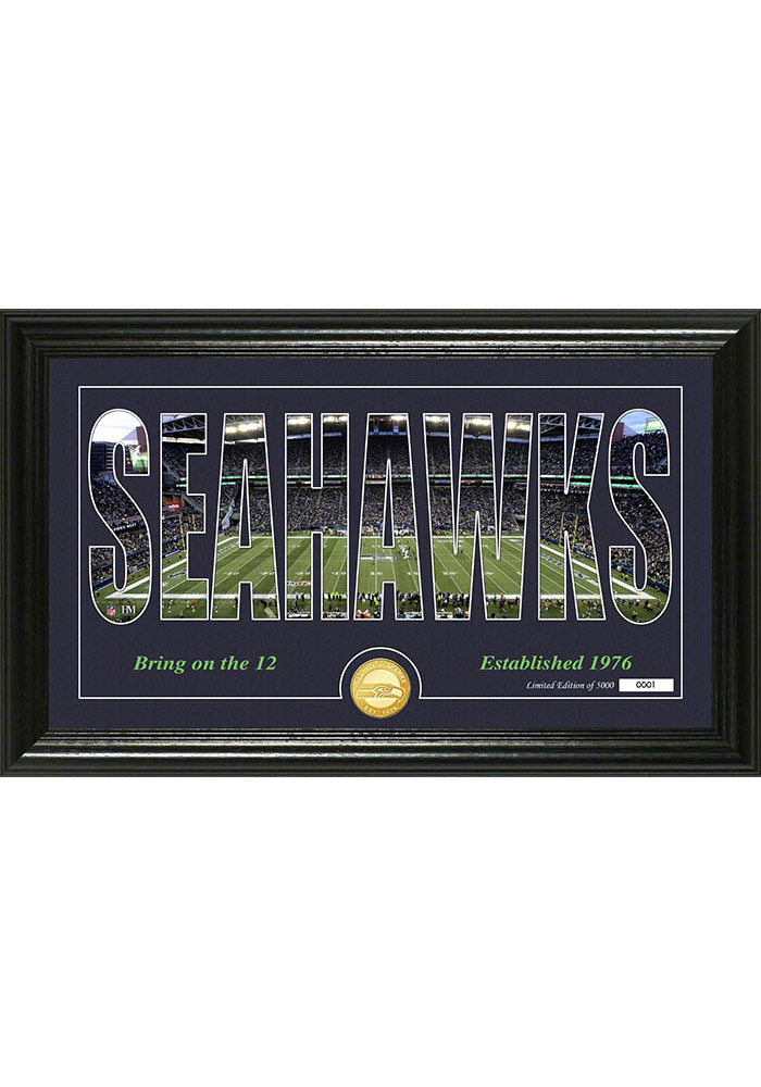 Seattle Seahawks 12x20 Silhouette Plaque - Image 1