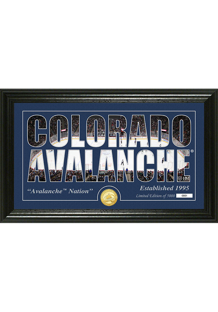 Colorado Avalanche 12x20 Silhouette Plaque - Image 1