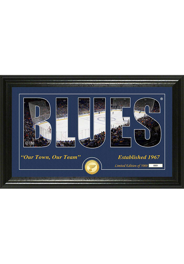 St Louis Blues 12x20 Silhouette Plaque - Image 1