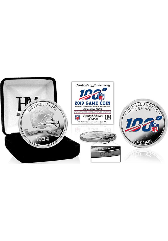 Detroit Lions 2019 Silver Game Collectible Coin - Image 1