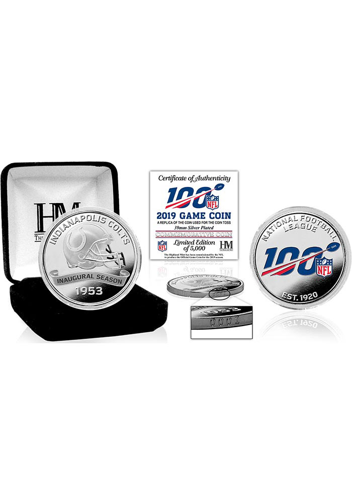 Indianapolis Colts 2019 Silver Game Collectible Coin - Image 1