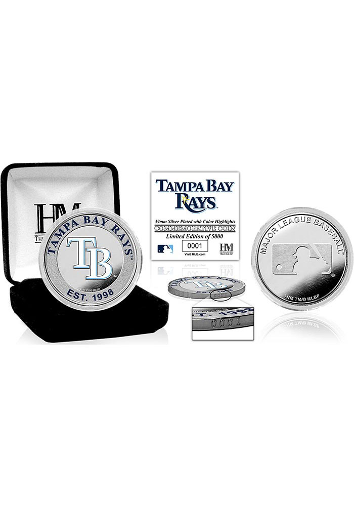 Tampa Bay Rays Silver Color Collectible Coin - Image 1